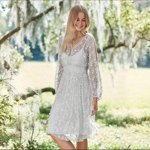 Sundance Pretty as a Picture Dress Embroidered NWT